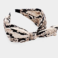 Bow Snake Pattern Head Band