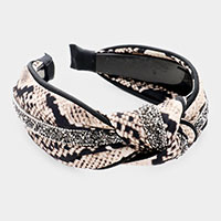 Snake Crystal Bead Knotted Head Band