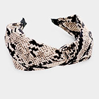 Snake Knotted Head Band