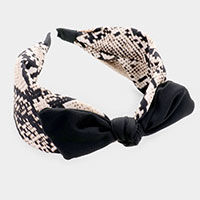 Snake Pattern Bow Head Band