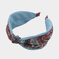Paisley Print Knotted Head Band