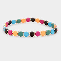 Round Lego Color Block Stretch Bracelet