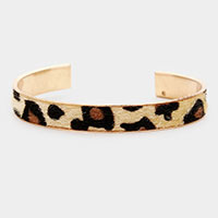 Leopard Pattern Faux Leather Cuff Bracelet