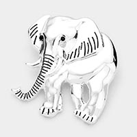 Elephant Metal Pin Brooch / Pendant