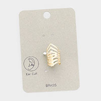 Brass Metal Cage Ear Cuff