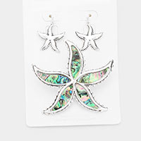 Abalone Starfish Magnetic Pendant Set