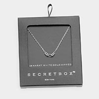 Secret Box _ 24K White Gold Pipped Link Pendant Necklace