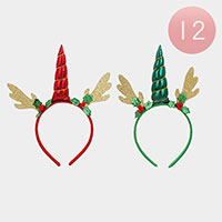12PCS - Christmas Holiday Head Bands