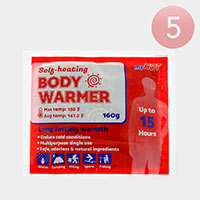 5PCS - Up to 15 Hours Self Heating Body Warmers