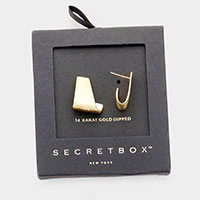 Secret Box _ 14K Gold Dipped Abstract Earrings