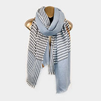 Houndtooth Plaid Winter Scarf