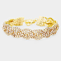 Rhinestone Crystal Evening Bracelet