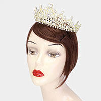 Teardrop Crystal Leaf Vine Pageant Princess Tiara