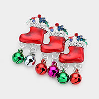 Acrylic Christmas Bell Pin Brooch