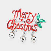 Acrylic Merry Christmas Bell Pin Brooch