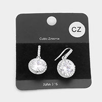 CZ Cubic Zirconia Crystal Evening Earrings