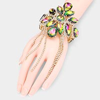 Crystal Rhinestone Fringe Multi Function Evening Arm Cuff  Bracelet