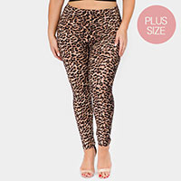Classic Cheetah Print Plus Size Leggings