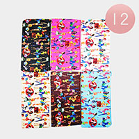 12PCS - Pretty Woman Print Pouch Bags