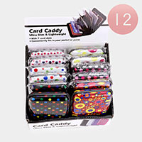 12PCS - Multi Dot Pattern Card Caddy Holders
