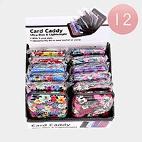 12PCS - Multi Flower Pattern Card Caddy Holders