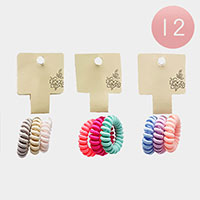 12 Set of 3 - Stretchable Hair Coils Bands
