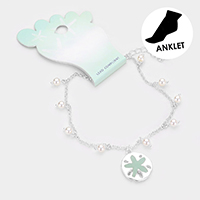 Sea Glass Starfish Pearl Anklet