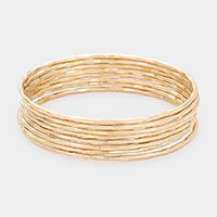 8PCS - Irregular Metal Bangle Layered Bracelets