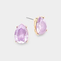 CZ Cubic Zirconia Teardrop Stud Earrings