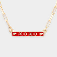 XOXO Pendant Chain Necklace
