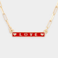 LOVE Pendant Chain Necklace
