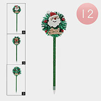 12PCS - Christmas Characters Ball Pens