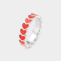 Acrylic Heart Statement Ring