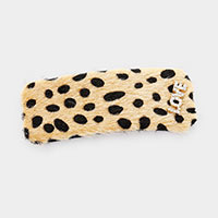 Leopard Faux Fur Love Barrette