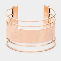 Burnished Metal Cuff Bracelet