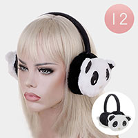 12PCS - Panda Faux Fur Earmuffs