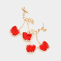 Threaded Cherry Earrings