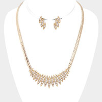 Rhinestone Pave Snake Chain Necklace
