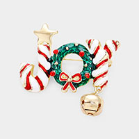 Christmas Joy Bell Pin Brooch