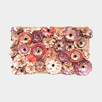 Bloom Floral Woven Clutch Bag