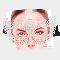 Crystal Rhinestone Fancy Masquerade Mask