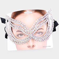 Rhinestone Cat Eye Masquerade Elastic Mask