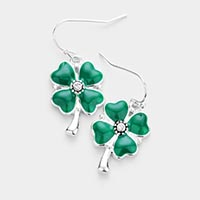 Enamel Clover Earrings