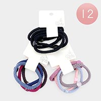 12 Set Of 4  - Braid Stretchable Hair Bands