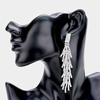 Strand Crystal Rhinestone Drop Evening Earrings