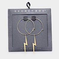 Secret Box _ 14K Gold Dipped Lightning Bolt Hoop Earrings