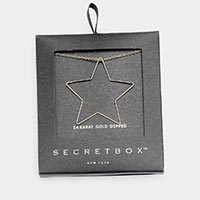 Secret Box _ 14K Gold Dipped Star Pendant Necklace