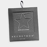 Secret Box _ White Gold Dipped Star Pendant Necklace