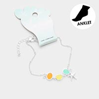 Sea Glass Starfish Anklet
