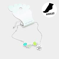 Sea Glass Sand Dollar Anklet